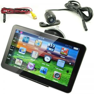 """KMDRIVE 4GB 7"""" Touch Screen GPS Navigation with a Rearview Camera"""