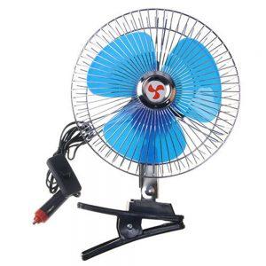 VODOOL 12/24V Portable Car Oscillating Clip-On Cooling Fan
