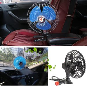 VODOOL 12/24V Portable Car Dashboard Oscillating Clip On Cooling Fan (2 Models)
