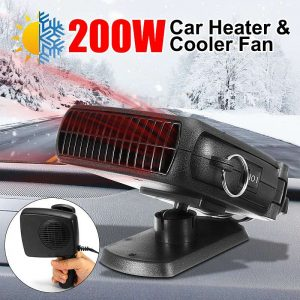 Audew 12V/24V 200W Dual Electric Car Cooler & Heater Defroster