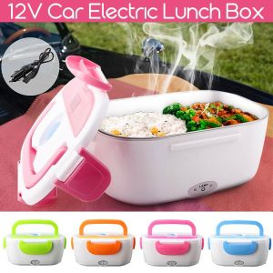 BECORNCE 12V 40W Portable Car Lunch Box & Electric Food Warmer
