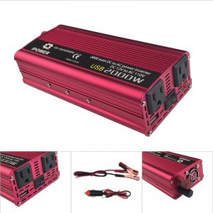 IPOWER Portable 60HZ 2000W Car Power Converter (DC 12V to AC 100/120V)