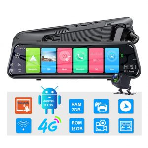 Ai-Z55 Touch Screen 4G Dual Lens Dash Cam Rearview Mirror & GPS Navigator1