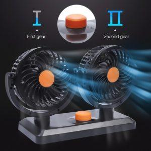 YANTU 12V/24V Dual Electric Car Cooling Fan
