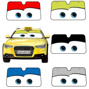 Disney Cars Design Windshield Sun Cover (Universal)