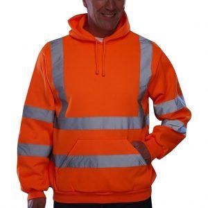 Premium Safety Reflective Hooded Sweatshirt