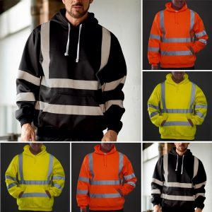 Premium Safety Reflective Hooded Sweatshirt