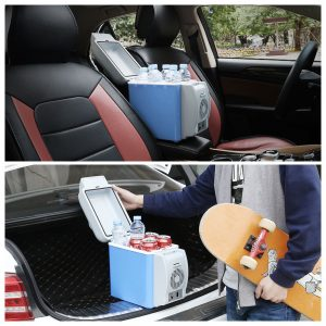 12V 38W Mini Portable Car Refrigerator, Freezer & Food Warmer