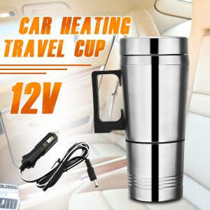 ALIDU 12V Stainless Steel Electric Travel Coffee Mug (10oz/300ml)