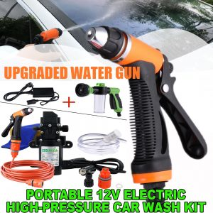 Premium Portable 12V Electric High-Pressure Car Wash Kit