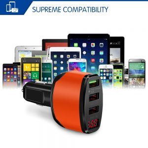 Powstro 3.0 Fast Charging 3-Way USB Mobile Car Charger