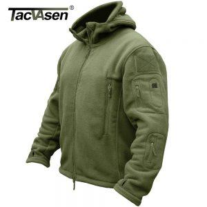 TACVASEN Premium Cashmere Hooded Winter Jacket
