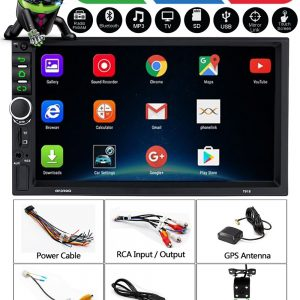 Android 9.1 WiFi Double-Din Car Stereo with GPS Navigation & Reverse Camera