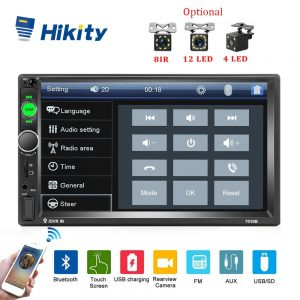 """HIKITY 7010B 7"""" Display Double-Din Car Stereo with Reverse Camera Support"""