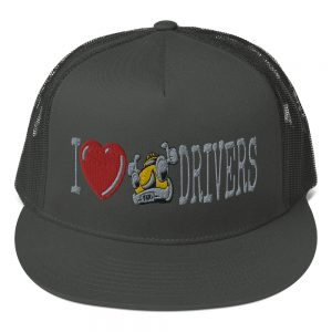 """""""I LOVE TAXI DRIVERS"""" Yupoong 5 Panel Trucker Cap"""
