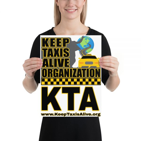 """KEEP TAXIS ALIVE ORGANIZATION"" Enhanced Matte Paper Poster"