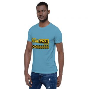 """I'M THE REAL TAXI DRIVER"" Bright Color Short-Sleeve Unisex T-Shirt"