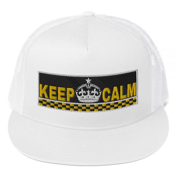 """""""KEEP CALM"""" Embroidered Yupoong Trucker Cap"""