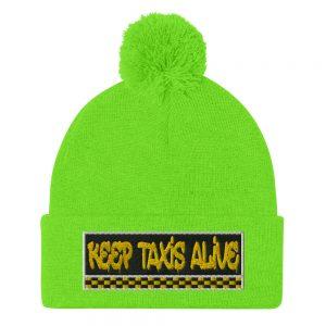"""""""KEEP TAXIS ALIVE – v3"""" Sportsman Pom-Pom Beanie"""