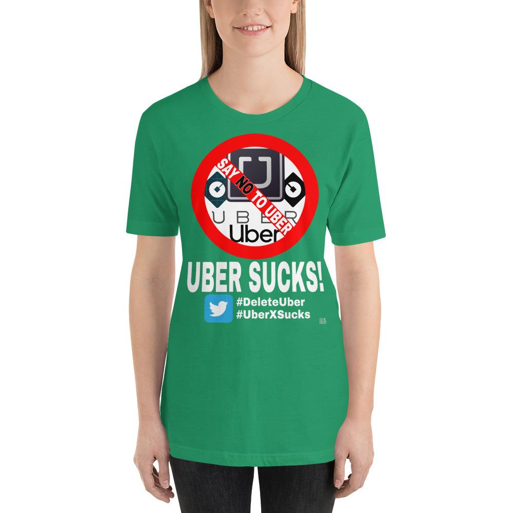 """UBER SUCKS!"" Dark Color Short-Sleeve Unisex T-Shirt"