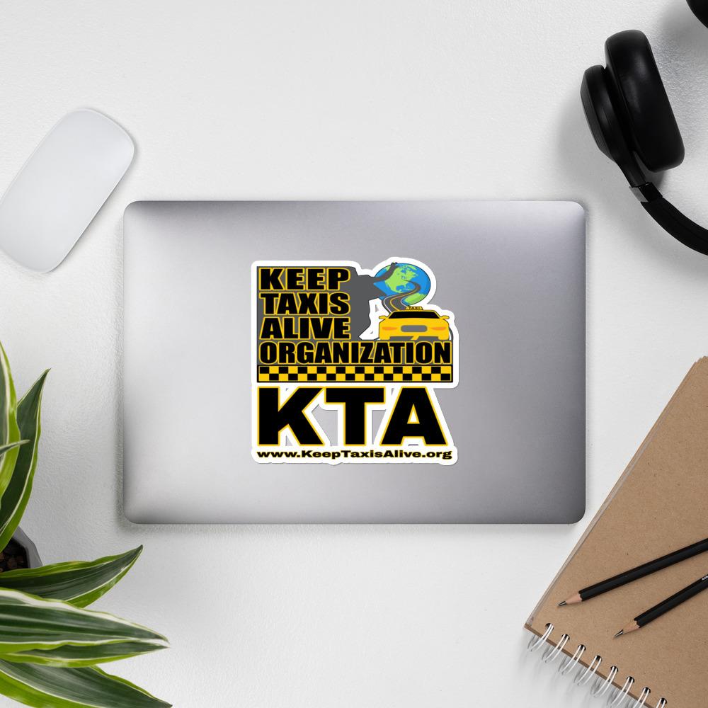 """""""KEEP TAXIS ALIVE ORGANIZATION"""" Premium Kiss Cut Emblem Stickers"""