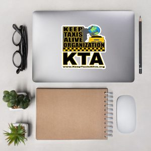 """KEEP TAXIS ALIVE ORGANIZATION"" Premium Kiss Cut Emblem Stickers"