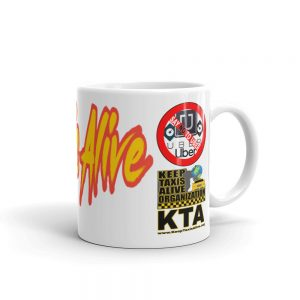 """KEEP TAXIS ALIVE – v2"" Premium Glossy White Mug"