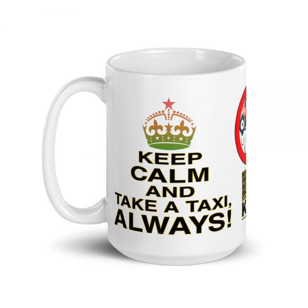 """KEEP CALM"" Premium Glossy White Mug"
