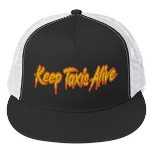 """KEEP TAXIS ALIVE – v2"" Yupoong 5 Panel Trucker Cap"