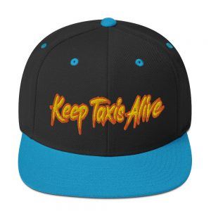 """KEEP TAXIS ALIVE - v2"" Embroidered Yupoong Snapback Hat"