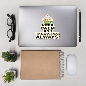 """KEEP CALM"" Premium Kiss Cut Emblem Stickers"