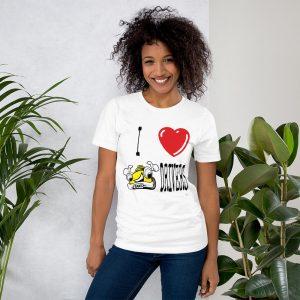 """""""I LOVE TAXI DRIVERS"""" Premium Bright Color T-Shirt"""