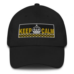 """KEEP CALM"" Embroidered Yupoong Dad Hat"