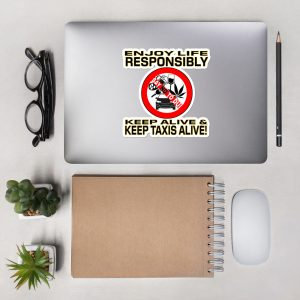 """ENJOY LIFE RESPONSIBLY"" Premium Kiss Cut Emblem Stickers"