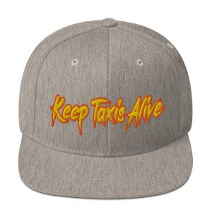 """""""KEEP TAXIS ALIVE - v2"""" Classic Yupoong Snapback Hat"""