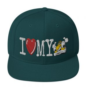 """""""I LOVE MY TAXI"""" Classic Yupoong Snapback Hat"""