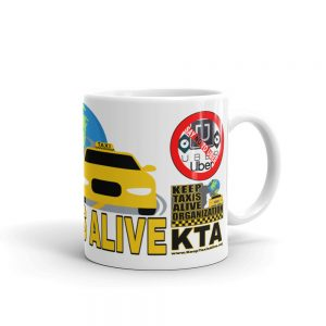 """KEEP TAXIS ALIVE – v1"" Premium Glossy White Mug"