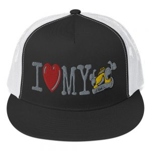 """""""I LOVE MY TAXI"""" Yupoong 5 Panel Trucker Cap"""