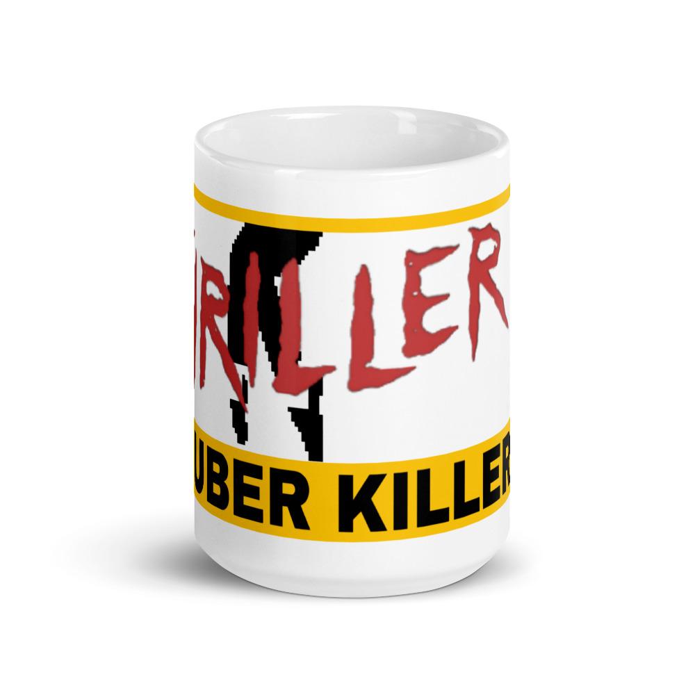 """""""MR. THRILLER THE UBER KILLER"""" Premium Glossy White Mug"""