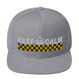 """KEEP CALM"" Classic Yupoong Snapback Hat"