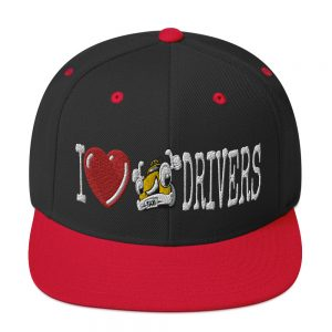 """I LOVE TAXI DRIVERS"" Embroidered Yupoong Snapback Hat"