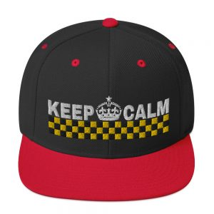 """KEEP CALM"" Embroidered Yupoong Snapback Hat"