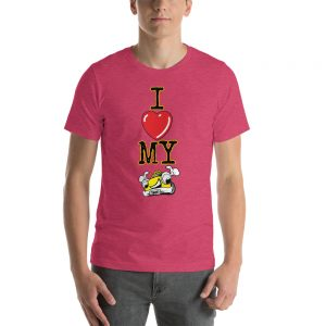 """I LOVE MY TAXI"" Dark Color Short-Sleeve Unisex T-Shirt"