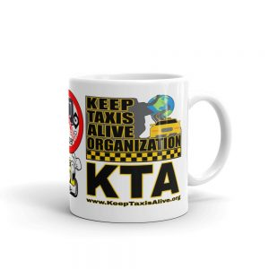 """KEEP TAXIS ALIVE ORGANIZATION"" Premium Glossy White Mug"