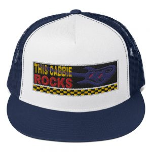 """THIS CABBIE ROCKS"" Yupoong 5 Panel Trucker Cap"