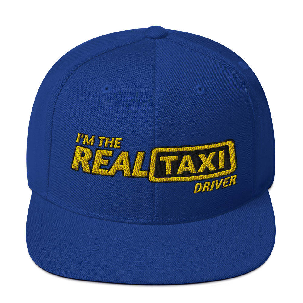 """""""I'M THE REAL TAXI DRIVER - v2"""" Embroidered Yupoong Snapback Hat"""