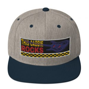 """THIS CABBIE ROCKS"" Embroidered Yupoong Snapback Hat"