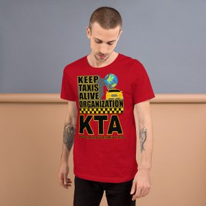 """KEEP TAXIS ALIVE ORGANIZATION"" Dark Color Short-Sleeve Unisex T-Shirt"