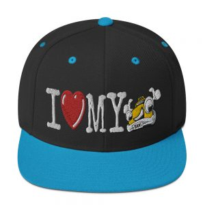 """I LOVE MY TAXI"" Embroidered Yupoong Snapback Hat"