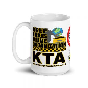 """KEEP TAXIS ALIVE ORGANIZATION"" White Glossy Mugs (11oz & 15oz)"